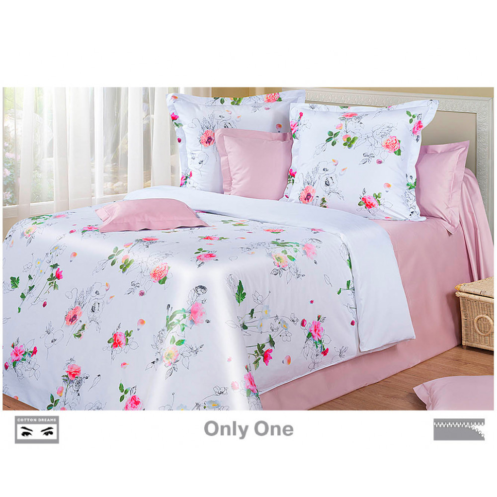 Cotton Dreams «Only One» евро макси (king size) с наволочками 70x70