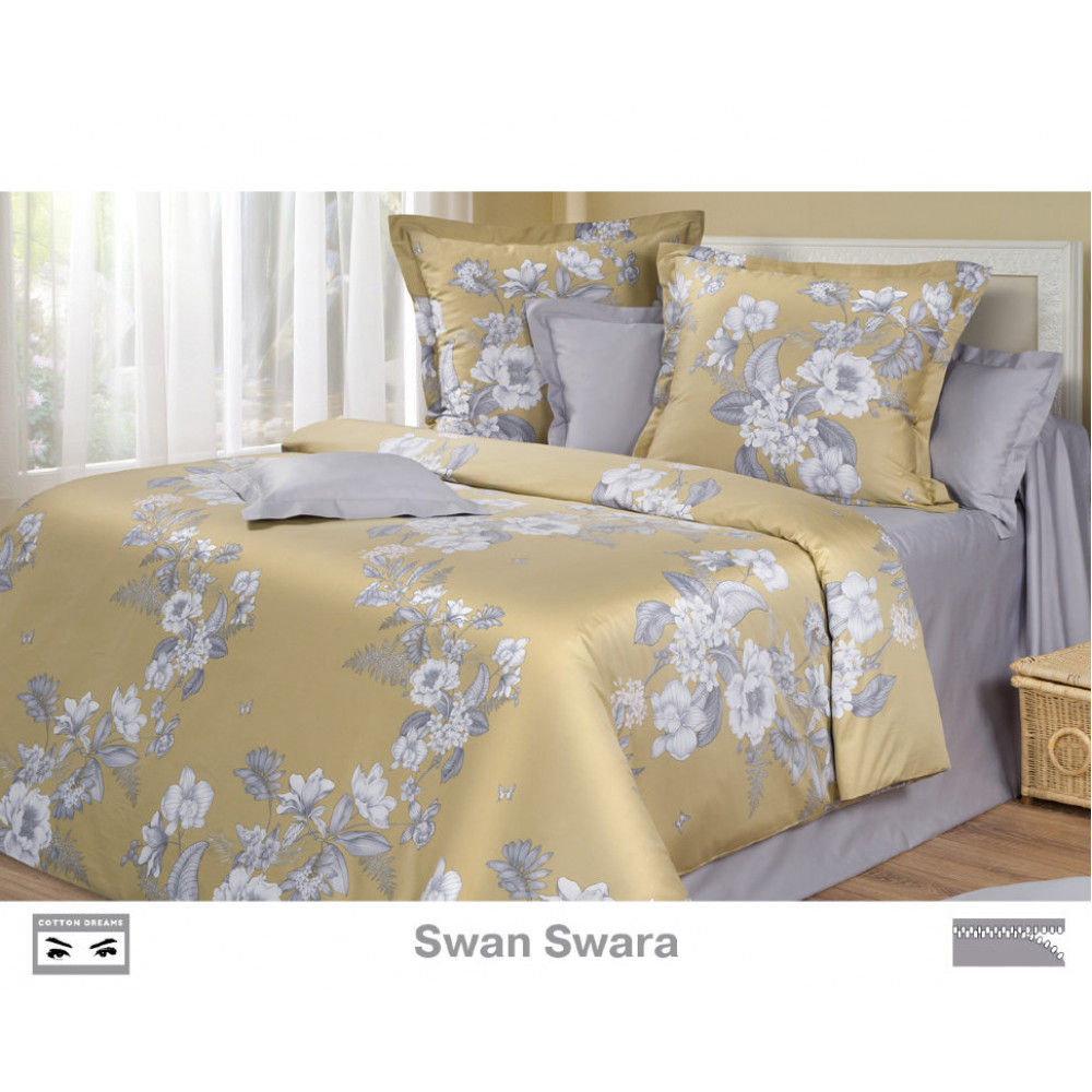 Cotton Dreams  «Swan Swara» евро макси (king size) с наволочками 50x70