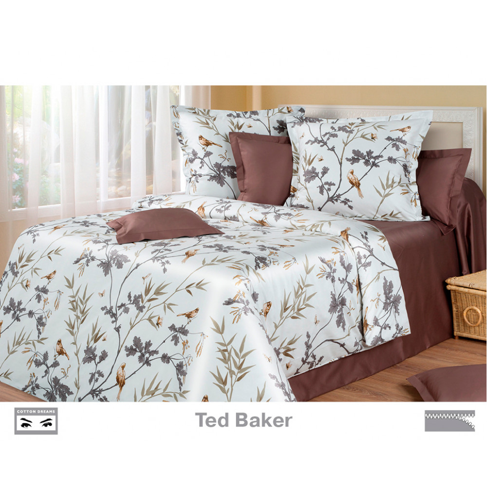 Cotton Dreams «Ted Baker» евро макси (king size) с наволочками 70x70
