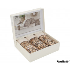 Салфетки Tivolyo Home «Tiger» коричневый 30x50 (3 шт.)